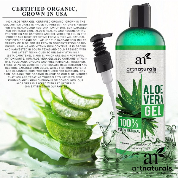 Art Naturals Aloe Vera Gel For Face Hair Body
