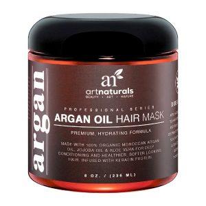 Art Naturals Argan Oil Hair Mask; Makes Hair Soft and Smooth; 100% Organic; Repairs Damaged Hair; Deep Conditioner