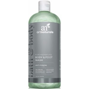 Art Naturals Body and Foot Wash; Peppermint and Eucalyptus Oils, Moisturizer and Anti-Fungal Wash in One; Great For Treatment of Eczema