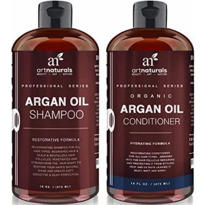 Art Naturals Organic Moroccan Argan Oil Shampoo and Conditioner; Has Vitamin E and B Complex; Adds Volume; Sulfate Free