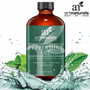 Art Naturals Peppermint Oil 100% Pure and Natural Premium Therapeutic Grade Essential 4 Oz.