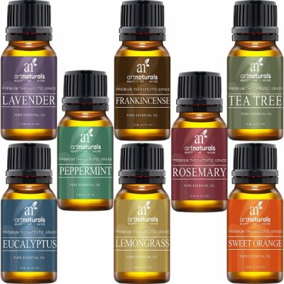 Art Naturals Top 8 Essential Oils; Give Your Home A Spa-like Feel; All Natural; 100% Pure Therapeutic Grade Oils
