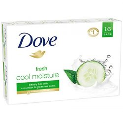 Dove Go Fresh Cool Moisture Beauty Bar; Get Fresh, Clean Skin; Cucumber and Green Tea Extracts