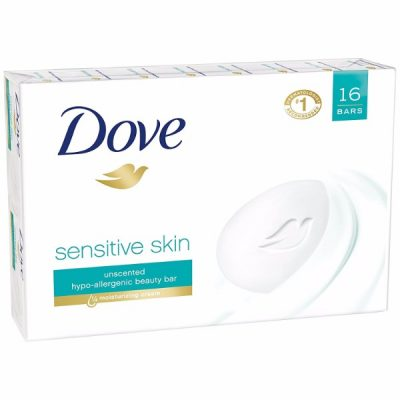 Dove Beauty Bar Sensitive Skin is Hypoallergenic; #1 Dermatologist Recommended; Safe for Sensitive Skin; 4 oz. Beauty Bar 16pcs.