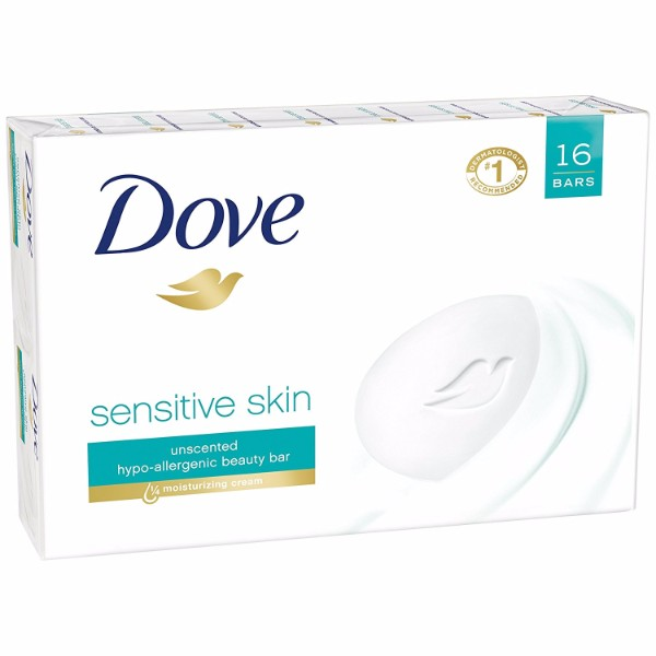 MOC | Dove Beauty Bar Sensitive Skin is Hypoallergenic; #1 Dermatologist Recommended; Safe for Sensitive Skin; 4 oz. Beauty Bar 16pcs.