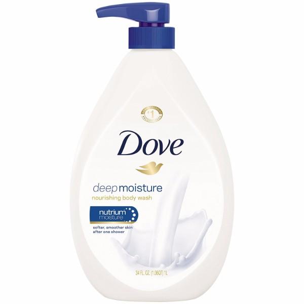 MOC | Dove Body Wash Deep Moisture; 1/4 Moisturizers; Moisturize Your Skin in the Shower; 34 oz. Pump Bottle; Dermatologist Recommended