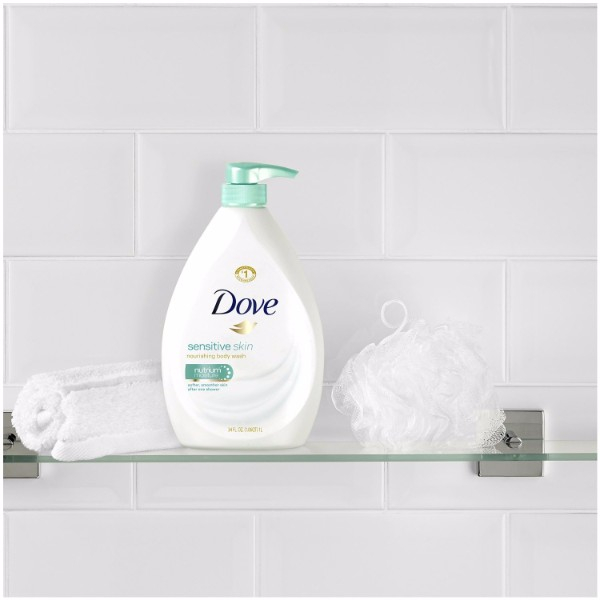 Dove Sensitive Skin Body Wash Gives Extra Care For Sensitive Skin 34 Oz Pump Bottle