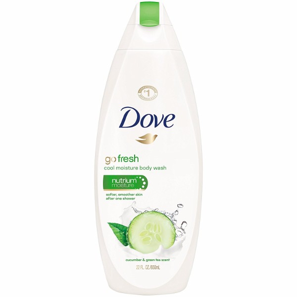 MOC | Dove Go Fresh Body Wash in Cool Moisture; 22 Fl. oz. Cucumber and Green Tea Scent; Moisturizes as it Cleans