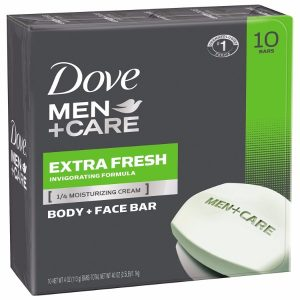 Dove Men+Care Extra Fresh Body and Face Bar; Refreshing Scent; Contains 1/4 Moisturizers; Made for Men's Skin