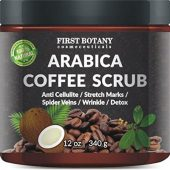 Natural Arabica Coffee Scrub From First Botany Cosmeceuticals; Contains Organic Coffee; Anti-Cellulite, Minimizes Stretch Marks