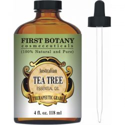 First Botany Australian Tea Tree Oil 4 Fl. oz. with Glass Dropper 100% Pure and Natural Therapeutic Essential Oil