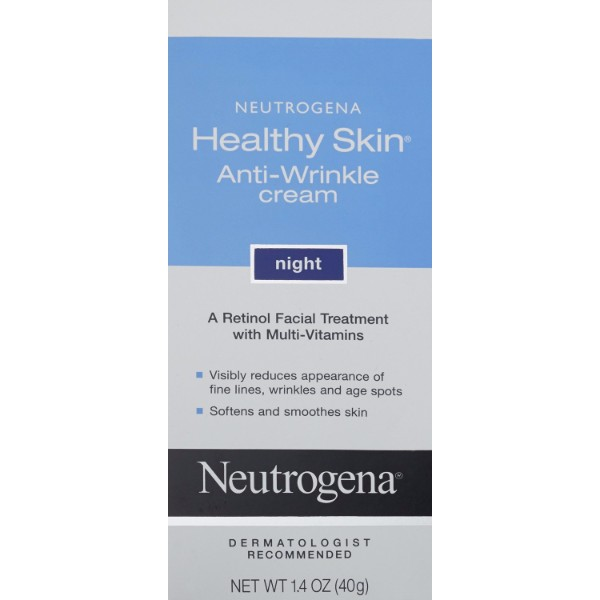 MOC | Neutrogena Healthy Skin Anti-Wrinkle Cream Night; Contains Retinol, Vitamin E; Clinically Proven to Reduce Wrinkles and Fine Lines
