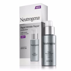 Neutrogena Rapid Wrinkle Repair Night Moisturizer; Retinol SA, Glucose Complex, Hyaluronic Acid; Minimizes Wrinkles and Fine Lines; Get Younger & Smoother Skin