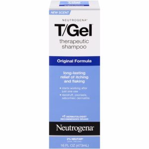 Neutrogena T/Gel Therapeutic Shampoo; Get Rid of Dandruff and Flakes; Relief from Itching; Contains Coal Tar