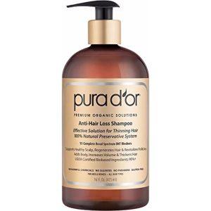 PURA D'OR Anti-Hair Loss Shampoo; Premium Argan Oil Shampoo; Get Thick, Healthy Hair
