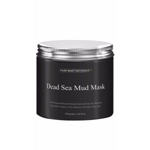Pure Body Naturals Beauty Dead Sea Mud Mask; Face and Body Mask; Shrink Pores, Remove Blackheads, and Stop Breakouts