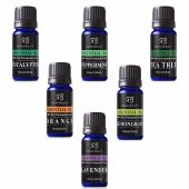 Radha Beauty Aromatherapy Top 6 Essential Oil Set; Relaxing and Multi-purpose Essential Oils, Therapeutic Grade; Sampler Set