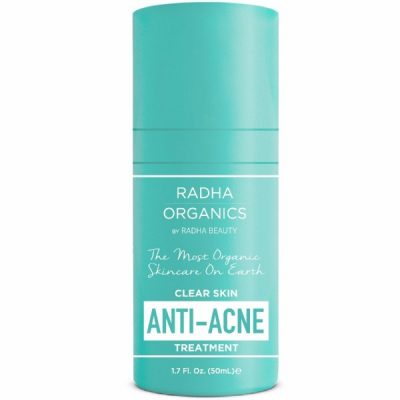 Radha Beauty Organic Anti Acne Spot Treatment Gets Rid of Acne and Acne Scars; 100% Natural; Suits All Skin Types