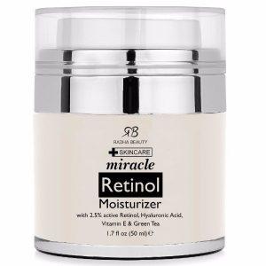 Radha Beauty Retinol Moisturizer; Anti-Aging, Get Younger Looking Skin