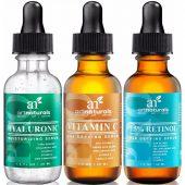 Art Naturals Anti-Aging Set; Eliminates Fine Lines & Wrinkles; Antioxidant and Collagen Boosting; Renews Skin Volume and Radiance