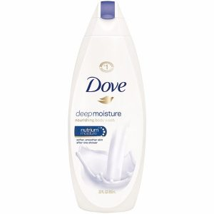 Dove Body Deep Moisture; Pack of 4 Body Wash; Beauty; Mild and Gentle Formula; Moisturizing; Minimizes Skin Dryness