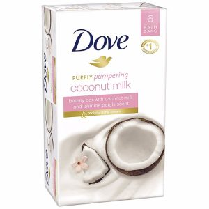 Dove Purely Pampering Beauty Bar Coconut Milk; For Softer and Smoother Skin; Protects Skin from Drying; Mild Cleanser that Boosts Natural Skin Moisture