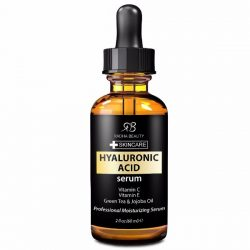 Radha Beauty Hyaluronic Acid Serum; Anti-aging Serum; Contains Vitamin C & Vitamin E; Get Radiant, Younger Looking Skin; Reduce Wrinkles & Fine Lines