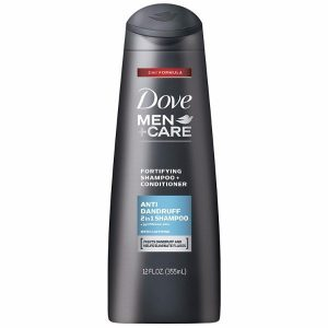 Dove Men+Care 2 in 1 Shampoo and Conditioner Anti Dandruff; Get Rid of Flakes; Improve Scalp Health; Make Hair Stronger