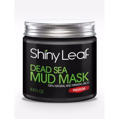 Shiny Leaf Dead Sea Mud Mask; 100% Pure and Natural; Therapeutic Grade; Gets rid of Blemishes, Blackheads and Whiteheads; Use for Anti-aging