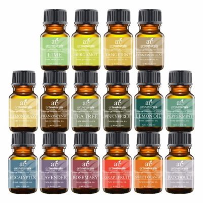 Art Naturals Pure Essential Oils; Best 16 Aromatherapy Essential Oil Set; Pure Therapeutic Grade Quality Oils; Premium Gift Set