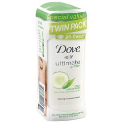 Dove Go fresh Antiperspirant Deodorant Cool Essentials; 48-Hour Underarm Protection; Crisp Scent of Cucumber and Green Tea; With ¼ Moisturizing Cream