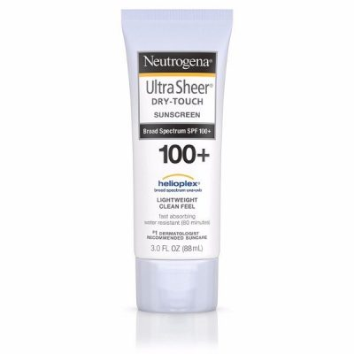 Neutrogena Dry-Touch Sunscreen, Broad Spectrum SPF 100+, Protects Against UVA and UVB Rays, Lightweight Clean Feel, #1 Dermatologist Recommended, Water Resistant, Fast Absorbing
