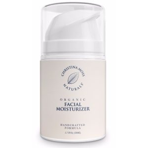 Christina Moss Naturals Organic and Natural Face Moisturizing Cream; Hydrating Formula for All Skin Types; Effective against Skin Aging for Men and Women