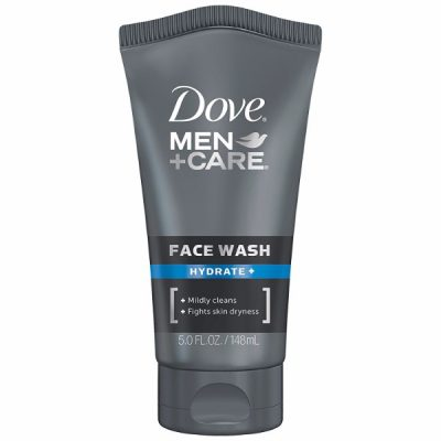 Dove Men+Care Face Wash Hydrate; Protects Skin from Drying; Leaves Skin Smoother After Use; Replenishes Skin Moisture