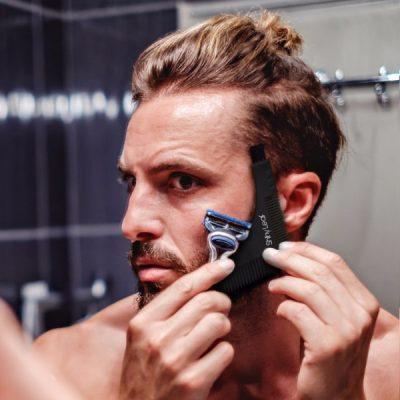 Shiny Leaf Beard Oil Box Set; Perfect Grooming and Styling Kit for Beards & Mustaches; Set of 2 Premium Beard Oils; Bonus Beard Shaper Accessory