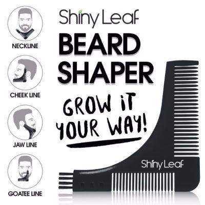 Shiny Leaf Beard Oil Grooming Set; Premium Blend of Beard Oil; High-Quality Multi-Purpose Shaper; Easy Grooming for All Facial Hair Types