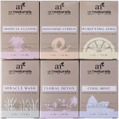 Art Naturals Infused with Jojoba Oil 6 Piece Soap Bar Set; With Six Rejuvenating Essences Soaps; Gentle on All Skin Types