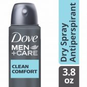 Dove Spray Antiperspirant Deodorant Clean Comfort; Dries Quickly on Skin; With ¼ Moisturizing Cream for Softer Underarms