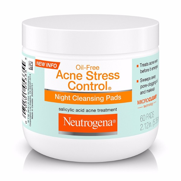 Neutrogena Acne Stress Control Night Cleansing Pads Count With