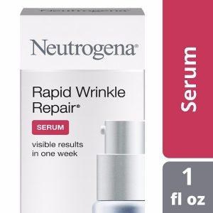 Neutrogena Rapid Wrinkle Repair Serum; Instant Results of Skin Improvement; Rejuvenates and Brightens Skin