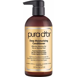 PURA D'OR Deep Moisturizing Conditioner; With Premium Essential Oils; Aloe Vera-Based Formula; Intense Hydration for Soft Hair
