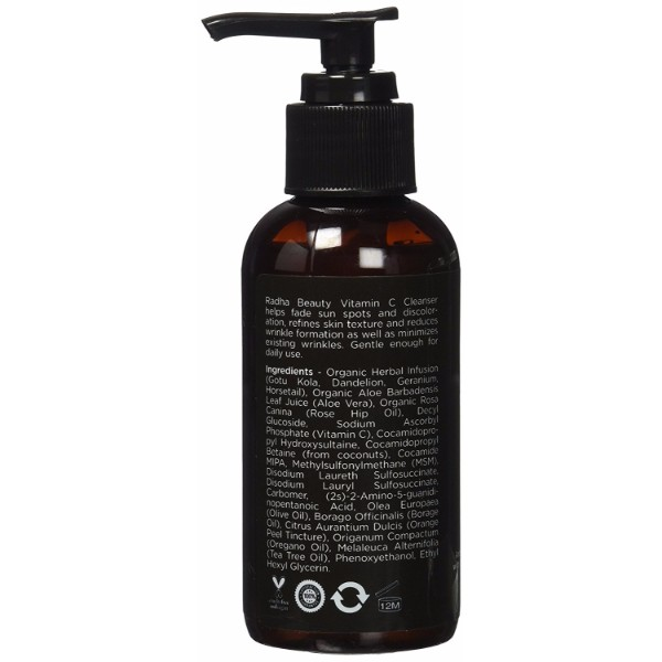 Radha Beauty Vitamin C Facial Cleanser Anti Aging Face Wash Infused With Vitamin C And Rosehip