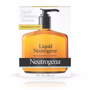 Neutrogena Facial Cleansing Formula; Gentle Liquid Cleanser; Free From Oil and Any Fragrance; For a Brighter and Clearer Skin