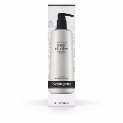 Neutrogena Sheer Oil-Lotion; With Sesame Oil for Boosted Skin Health; Light and Gentle Formula; Leaves the Skin Soft and Smooth