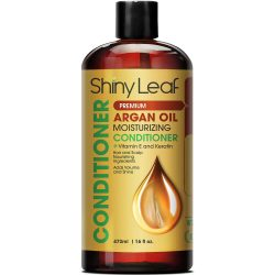 Shiny Leaf Argan Oil Moisturizing Conditioner; Boosted Volume and Healthy Hair Shine; Moisture-Rich Formula