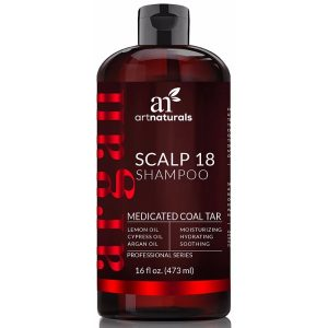 Art Naturals Dandruff Shampoo Coal Tar with Argan Oil; Soothes Scalp Conditions; Restores Healthy Shine of the Hair