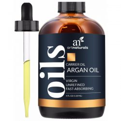Art Naturals Organic Argan Oil for Hair, Face, and Skin; Infused with Vitamin E; Fights Signs of Skin Aging; Heals Hair Damages