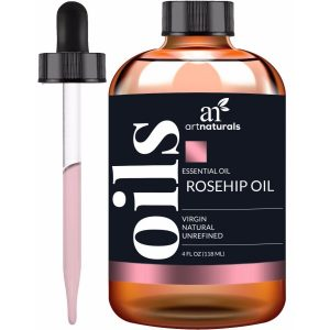 Art Naturals Rosehip Seed Oil Piece Set; Pure Organic Cold-Pressed Oil; Moisturizes Dry Skin; Fades Fine Lines and Scars