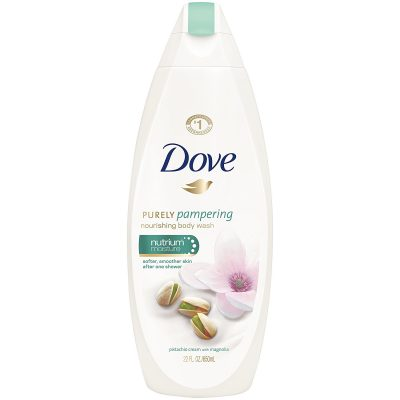 Dove Purely Pampering Body Wash Pistachio Cream with Magnolia; Deeply Moisturizes Skin; Pampers the Skin for a Soft and Silky Surface