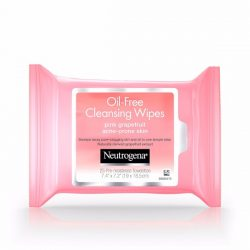 Neutrogena Cleansing Wipes Pink Grapefruit; Lifts Impurities from the Skin with One Swipe; With an Uplifting Scent